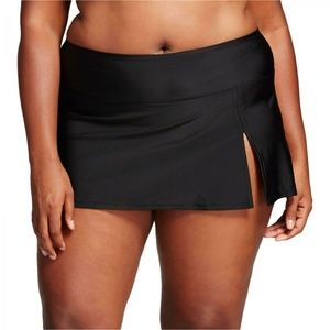 NWT Ava & Viv Skirtini Swim Bottom 20W/22W Black